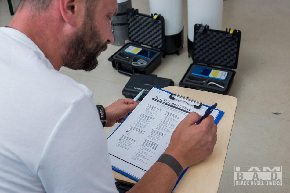 Egzamin podczas szkolenia Enrichted Air Nitrox (EANx)