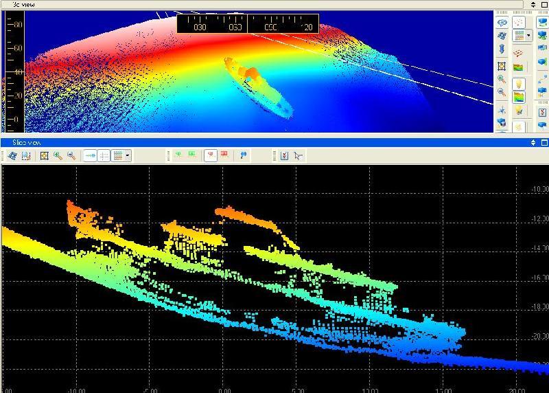 Obrazy położenia wraku kutra MW Bryza K18