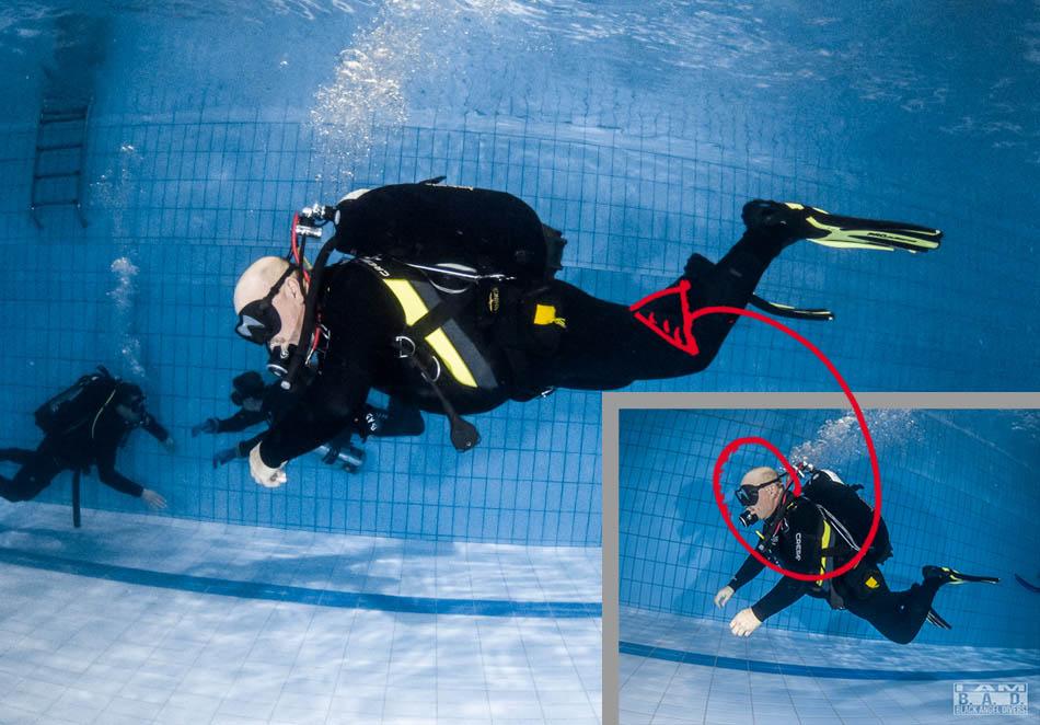 Prawidłowy trym podczas nurkowania