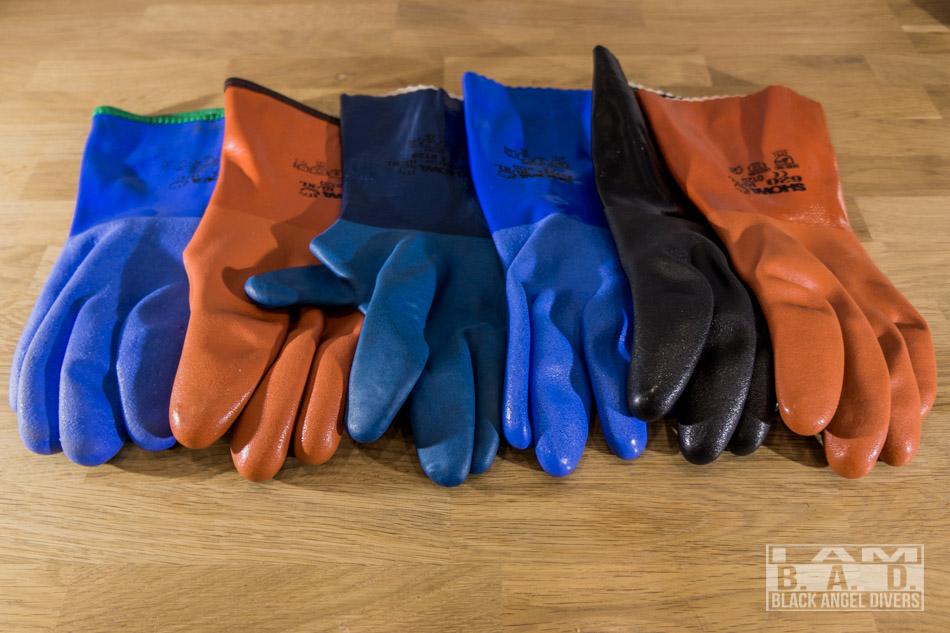 Rękawice Showa przeznaczone do nurkowania