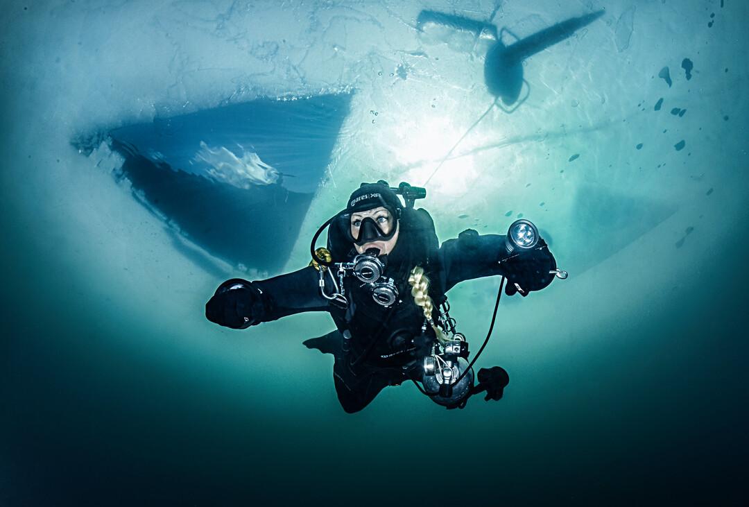 Ice diving - kurs nurkowania podlodowego